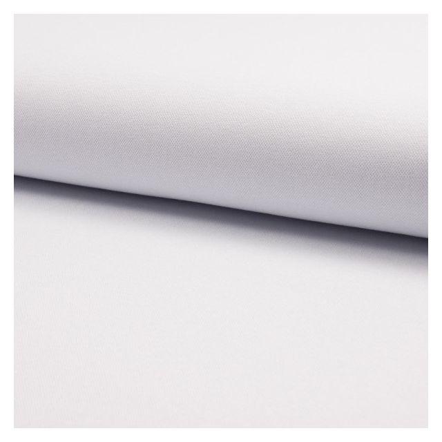 Tissu Jersey Piqué de coton spécial Polo Blanc - Par 10 cm