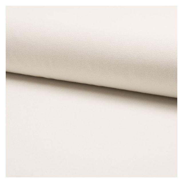Tissu Jersey Piqué de coton spécial Polo Blanc cassé - Par 10 cm
