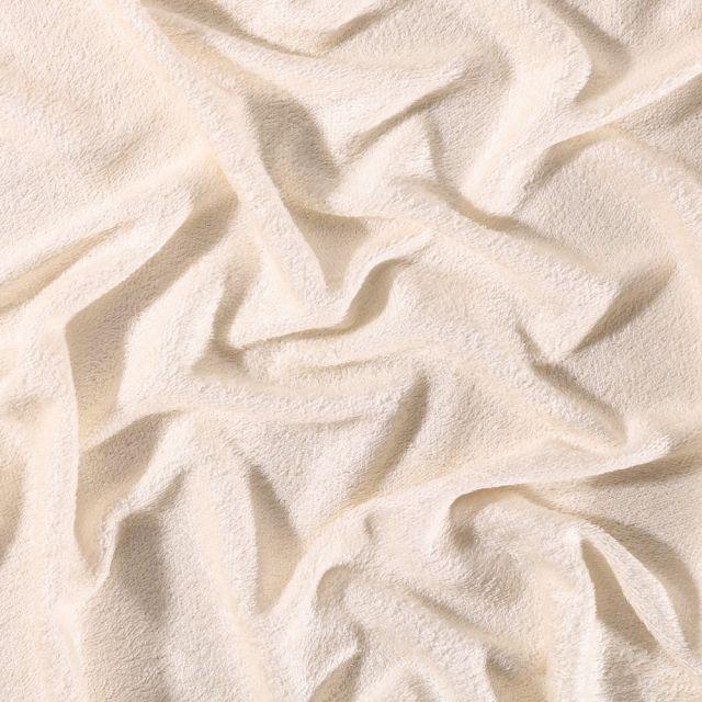 Tissu Eponge Bébé Bambou Tout doux Ecru - Par 10 cm