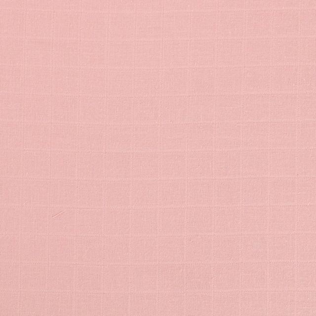 Tissu Lange Bébé Biologique Rose Dragée - Par 10 cm