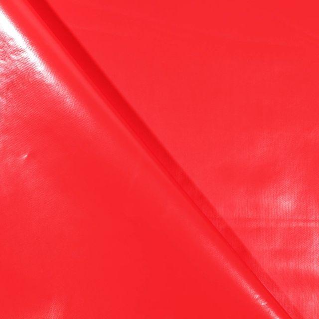 Toile cirée uni Rouge vermillon - Par 10 cm