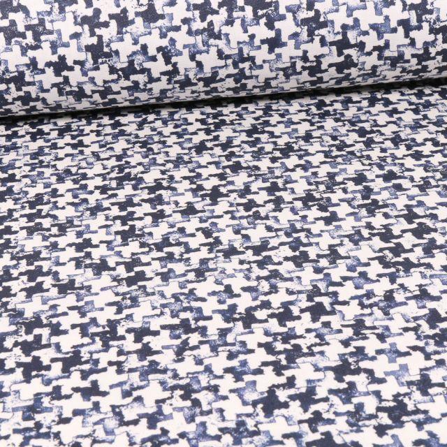Tissu Toile Transat Dralon Puzzle sur fond Blanc