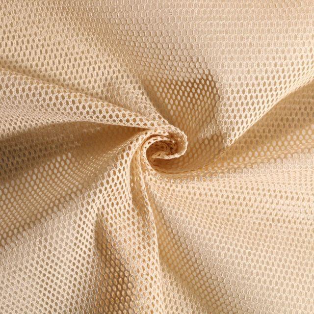 Tissu Filet en coton BIO Naturel - Par 10 cm