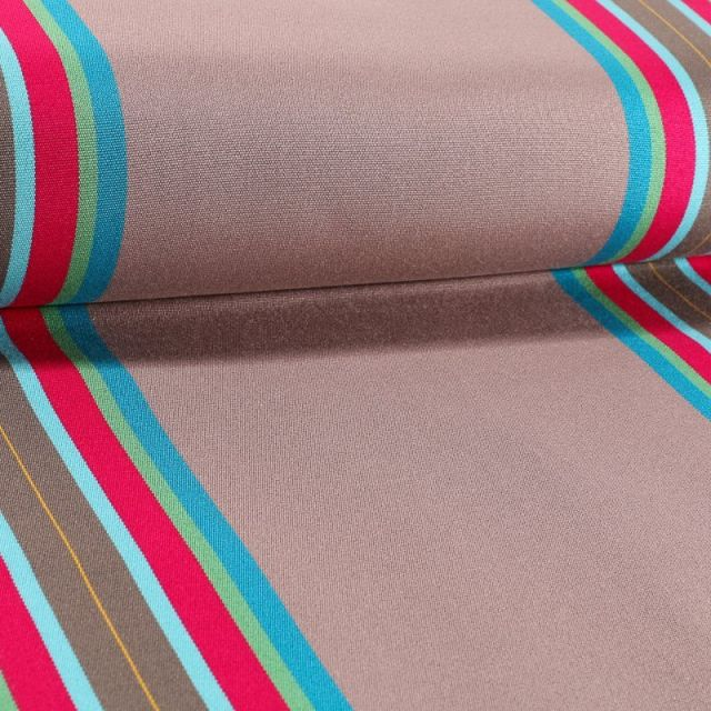 Tissu Toile Transat Playa Levant Taupe - Par 10 cm