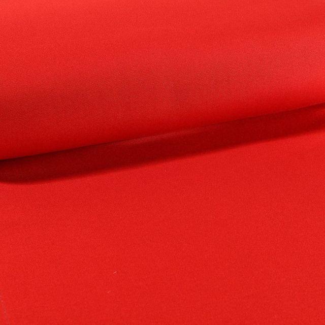 Tissu Toile Transat uni Rouge - Par 10 cm