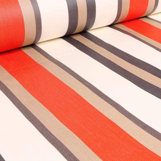 Tissu Toile extérieure Dralon Tango sur fond Orange