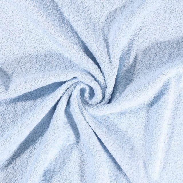 Tissu Eponge Deluxe Bleu ciel - Par 10 cm