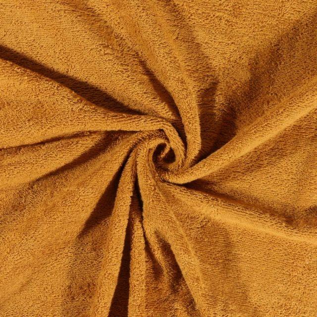 Tissu Eponge Deluxe Ocre - Par 10 cm