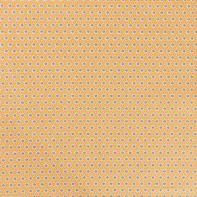 Tissu Coton Enduit Saki Jaune - Par 10 cm