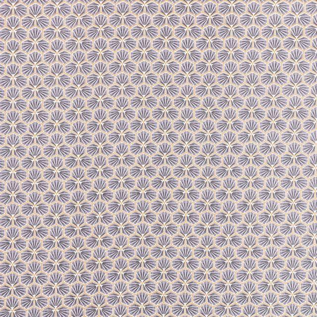 Tissu Coton Enduit Riad Gris ardoise - Par 10 cm
