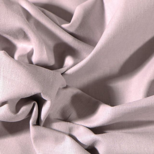 Tissu Coton uni Grande largeur 280cm Santorin Gris - Par 10 cm