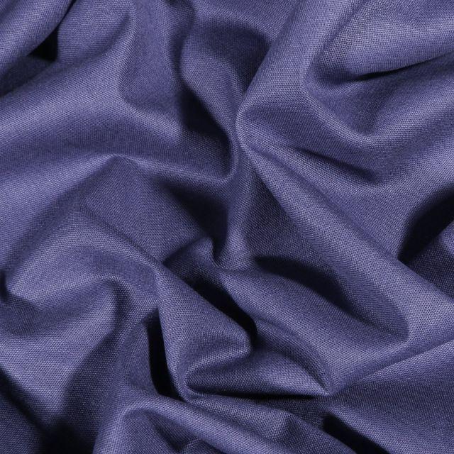 Tissu Coton uni Grande largeur 280cm Santorin Bleu marine - Par 10 cm