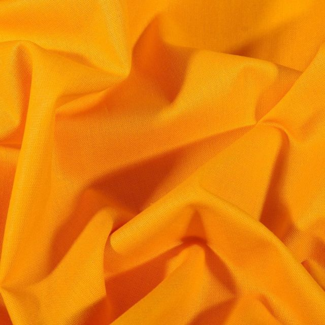 Tissu Coton uni Grande largeur 280cm Santorin Jaune - Par 10 cm