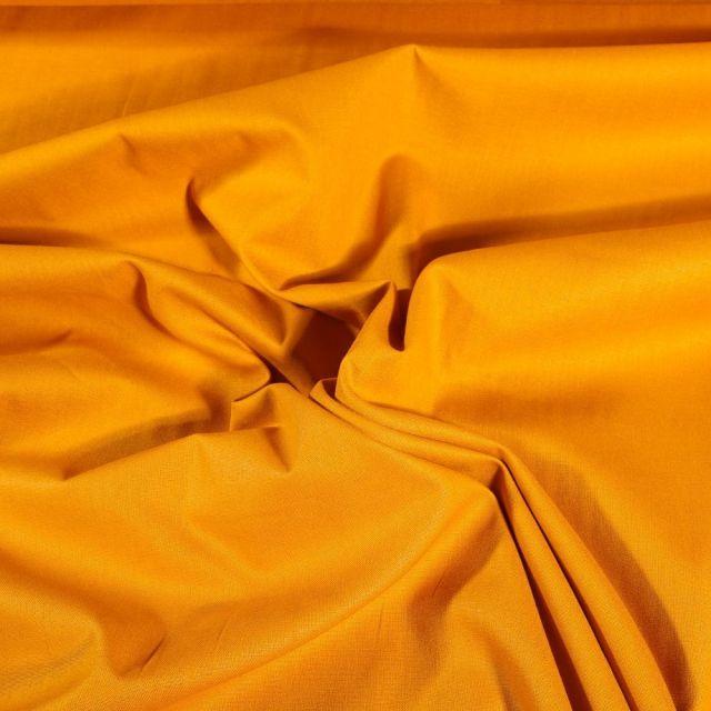 Tissu Coton uni Grande largeur 280cm Santorin Jaune curry - Par 10 cm