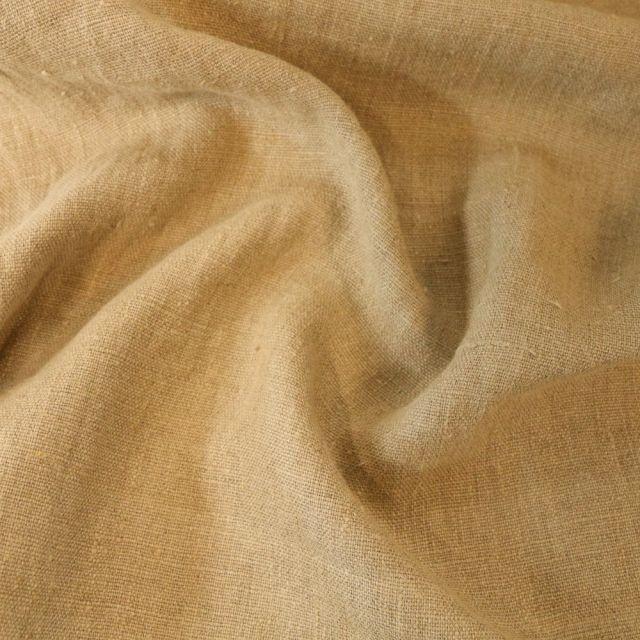 Tissu Lin lavé d'ameublement Naturel - Par 10 cm