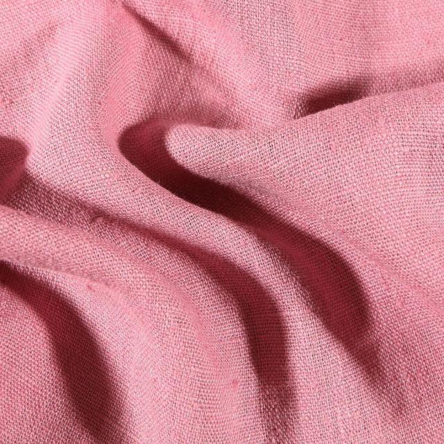 Tissu Lin lavé d'ameublement Lilas - Par 10 cm