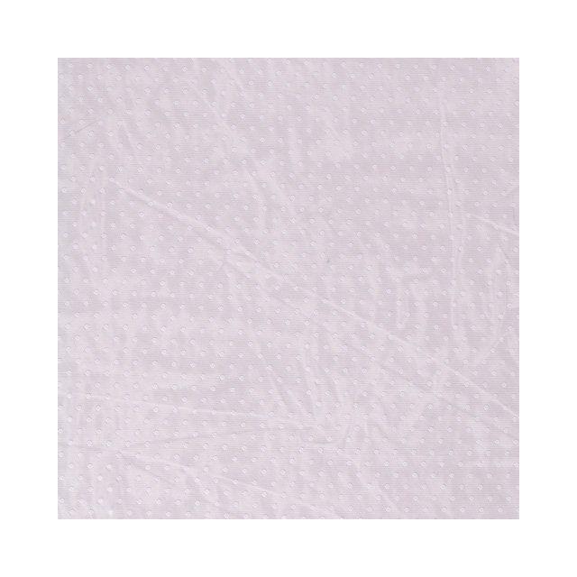 Tissu Tulle souple à pois Pois sur fond Blanc - Par 10 cm