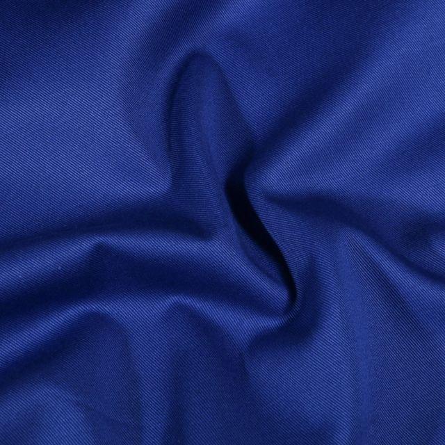 Tissu Coton Sergé uni Bleu roi - Par 10 cm