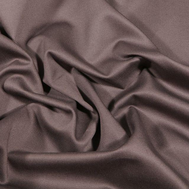 Tissu Coton Sergé uni Taupe - Par 10 cm