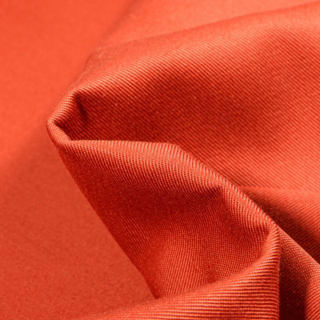 Tissu Coton Sergé uni Orange