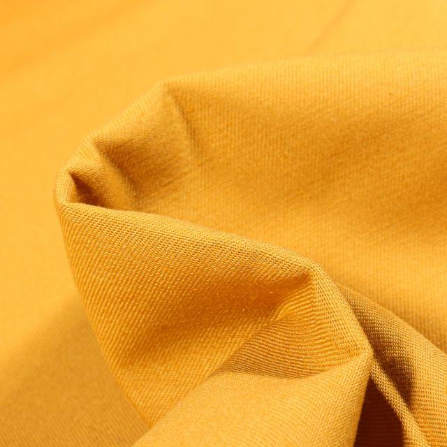 Tissu Coton Sergé uni Jaune vif