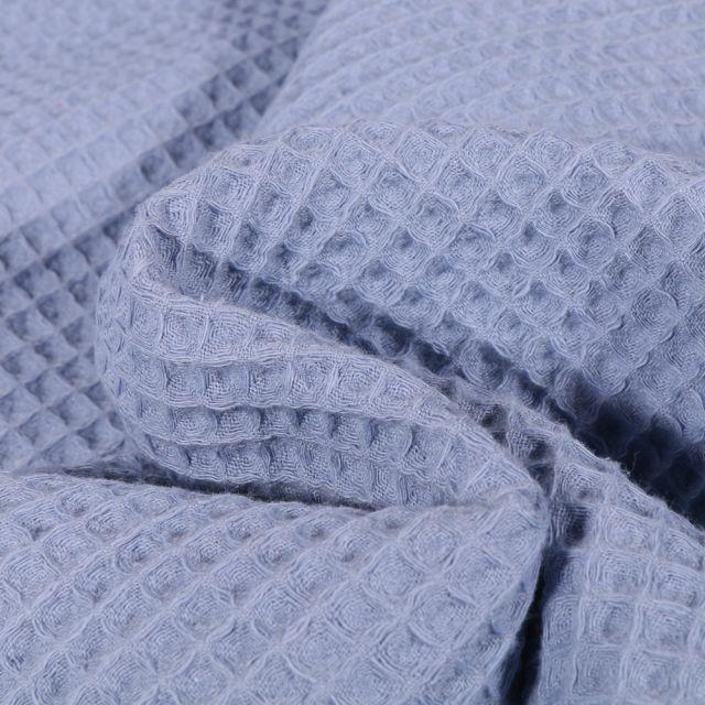 Tissu Nid d'abeille Bleu lavande