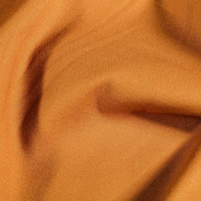 Tissu Coton Satiné extensible Camel - Par 10 cm
