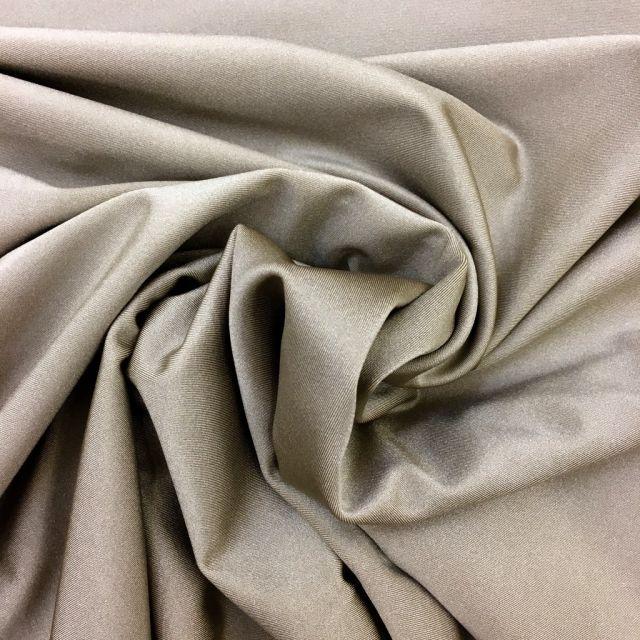 Tissu Lycra brillant Beige - Par 10 cm