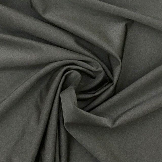 Tissu Lycra brillant Gris anthracite - Par 10 cm