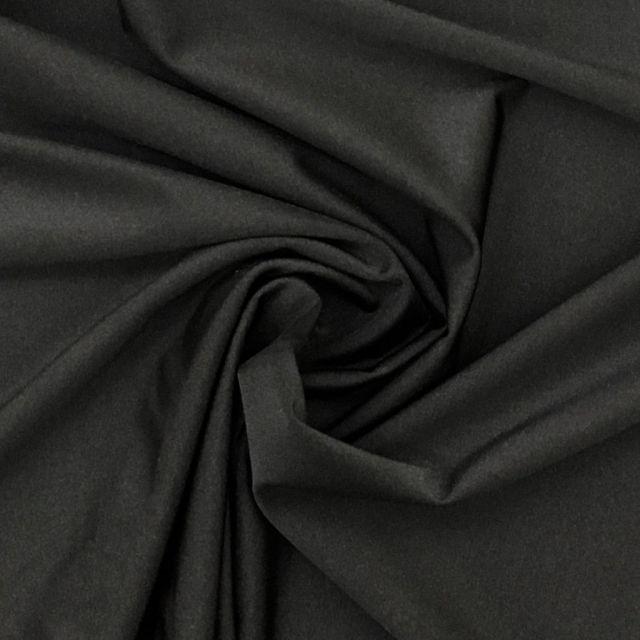 Tissu Lycra brillant Noir - Par 10 cm