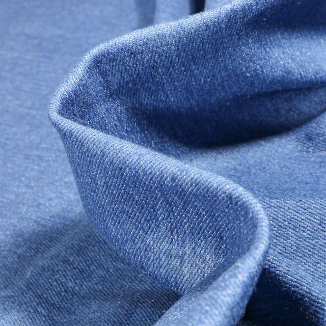Tissu Jean épais extensible  Bleu