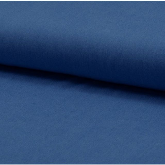 Tissu Chambray Ultra Léger Coton Bleu jean - Par 10 cm