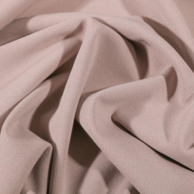 Tissu Crêpe Scuba extensible uni Beige - Par 10 cm