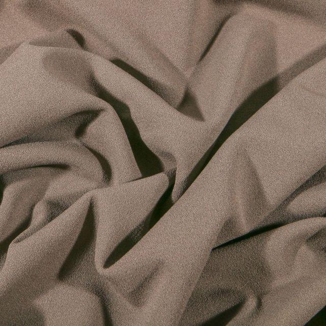 Tissu Crêpe Scuba extensible uni Taupe - Par 10 cm