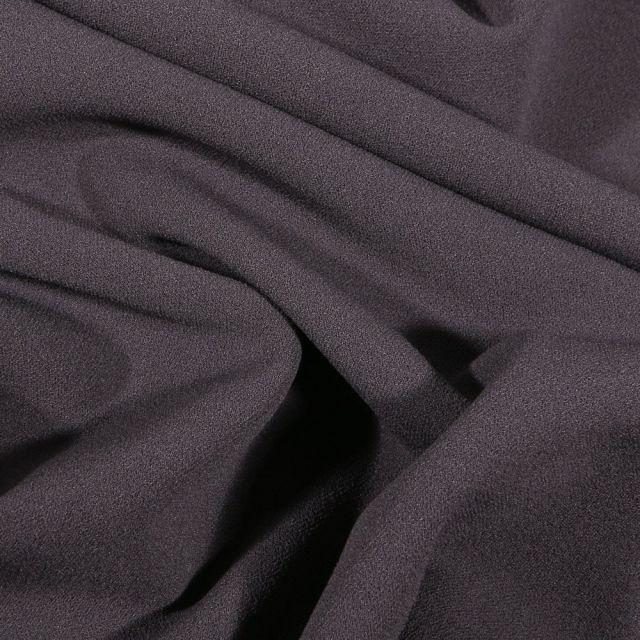 Tissu Crêpe Scuba extensible uni Gris anthracite - Par 10 cm