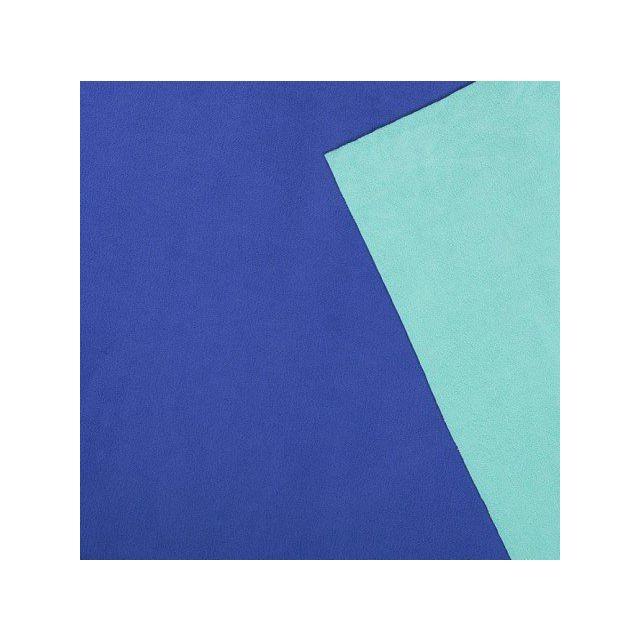 Tissu Polaire Double face Bicolore Bleu roi et vert menthe - Par 10 cm