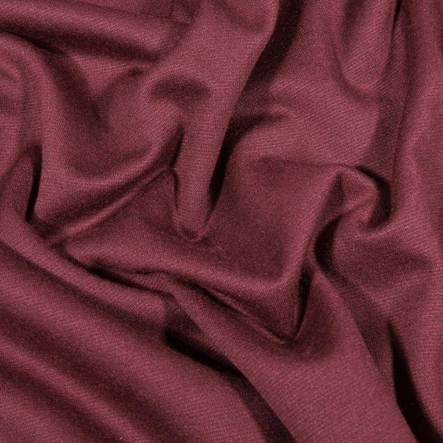 Tissu Jersey Milano uni Bordeaux - Par 10 cm