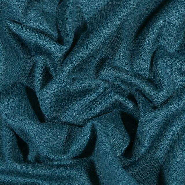 Tissu Jersey Milano uni Bleu pétrole - Par 10 cm