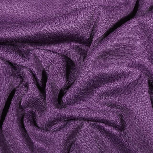 Tissu Jersey Milano uni Violet - Par 10 cm