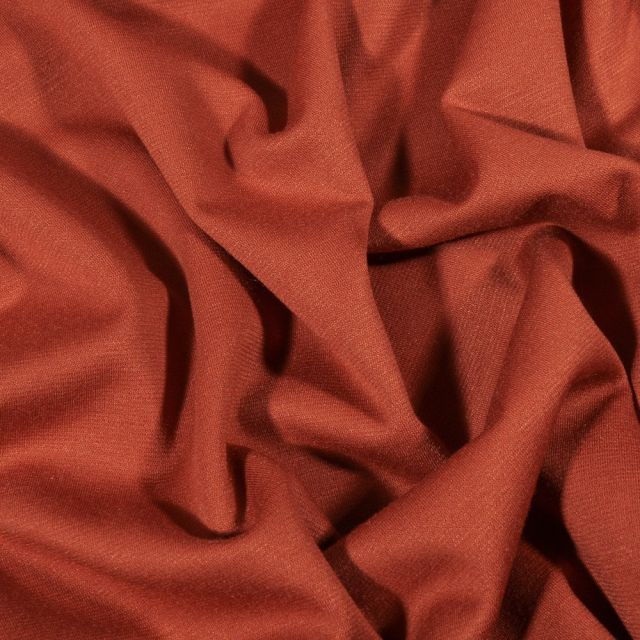 Tissu Jersey Milano uni Brique - Par 10 cm