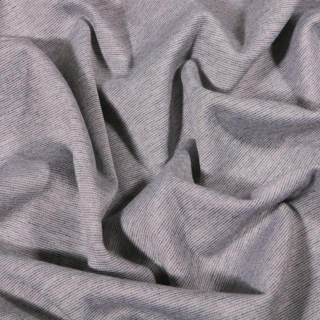 Tissu Jersey Milano uni Gris chiné - Par 10 cm