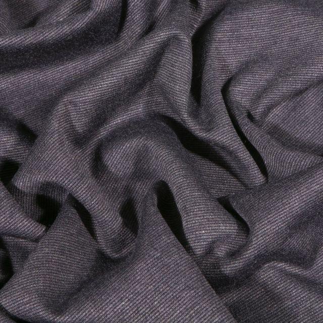 Tissu Jersey Milano uni Gris foncé chiné - Par 10 cm