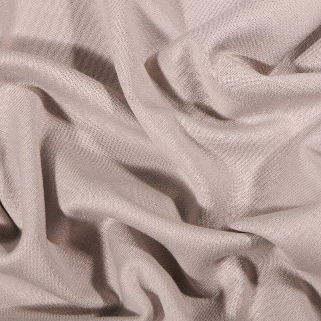 Tissu Jersey Milano uni Beige sable - Par 10 cm