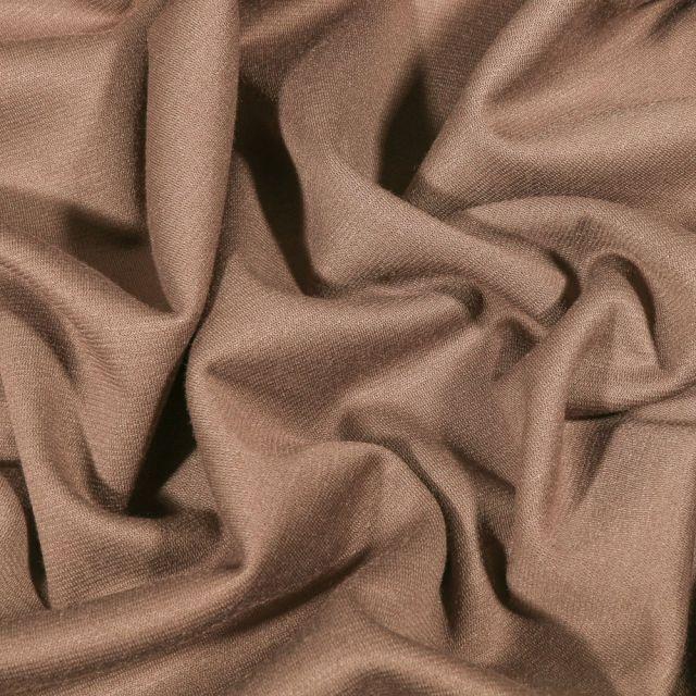 Tissu Jersey Milano uni Taupe - Par 10 cm