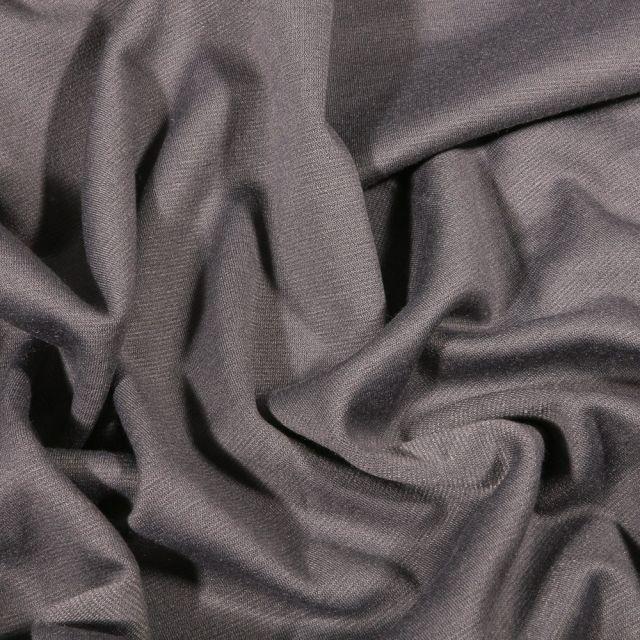 Tissu Jersey Milano uni Gris - Par 10 cm