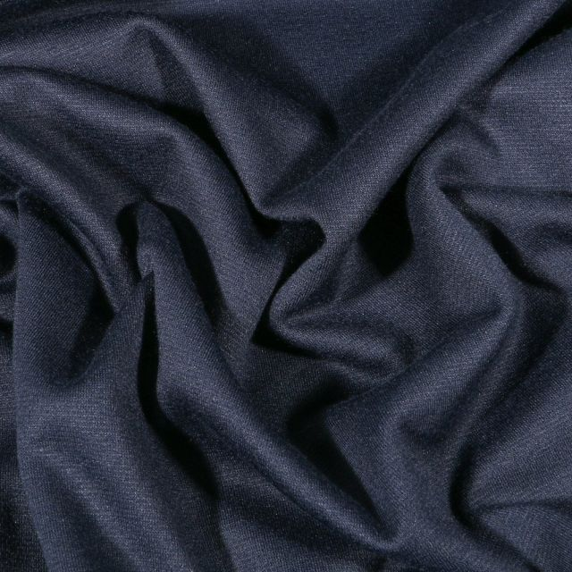 Tissu Jersey Milano uni Bleu marine - Par 10 cm