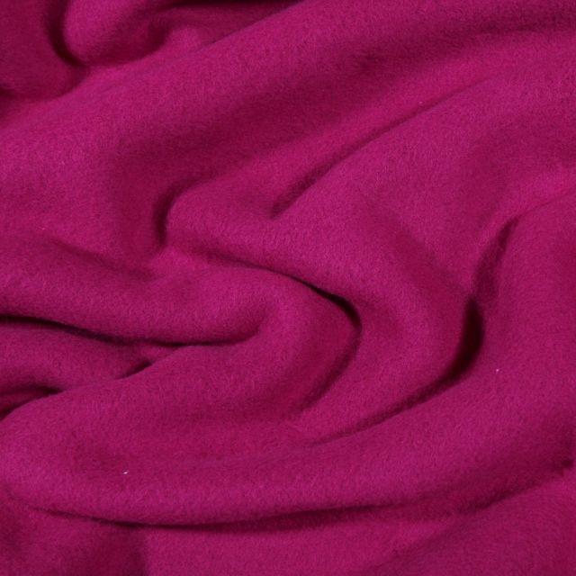 Tissu Polaire Coton uni  Violine - Par 10 cm