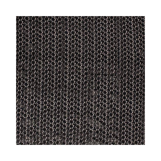 Tissu Dentelle épaisse Fleurs sur fond Noir - Par 10 cm