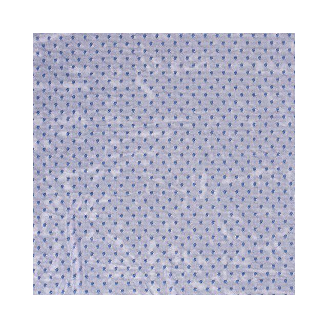 Tissu Tulle souple à pois Bleu foncé - Par 10 cm