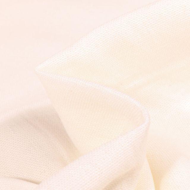 Tissu Viscose Lin uni Blanc cassé